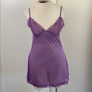 Sheer mesh & lace Victoria's Secret lingerie slip